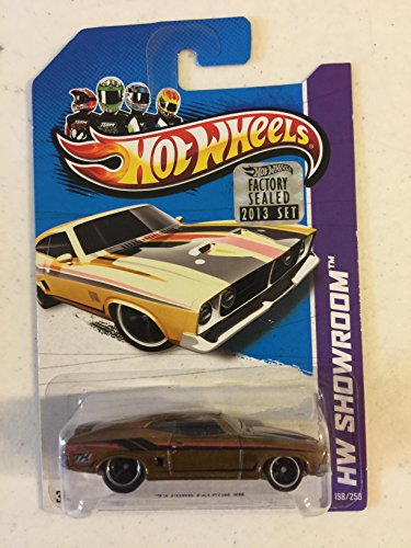 Hot Wheels 2013 Super Treasure Hunt '73 Ford Falcon XB Spectraflame Goldenrod Real Rider Wheels (Ford Falcon Hot Wheels)