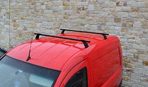 Bragan BRA3518 Van Roof Rack Bars Load Rails 2-Bar System Black Steel Fitting Kit