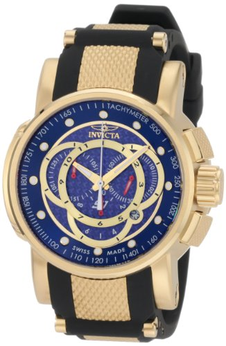 (Invicta Men's 0897 S1 Touring Sport Chronograph Black Rubber Watch )