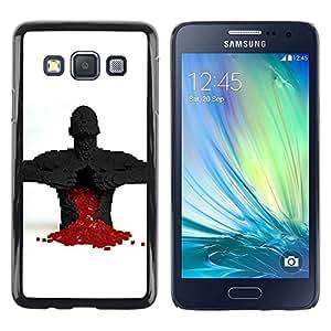 Be Good Phone Accessory // Dura Cáscara cubierta Protectora Caso Carcasa Funda de Protección para Samsung Galaxy A3 SM-A300 // Full Of Love Heart