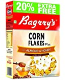 Bagrrys Corn Flakes Plus With Almond And Honey, 300 g (300+60g FREE) = 360 g