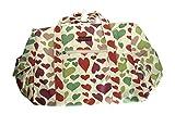 Bungalow360 Vegan Cotton Canvas Duffle Gym Bag (Heart)