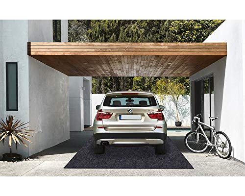 Garage Floor Mat,Absorbent Fabric,Anti-slip and Waterproof Backing,Washable,Garage and Shop Parking Mats(18Feet x 7.6 Feet)