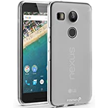 Fosmon (DURA-FRO) Google Nexus 5X Case - Slim-Fit Flexible TPU Gel Cover for LG Nexus 5X - Fosmon Retail Packaging (Frosted Clear)