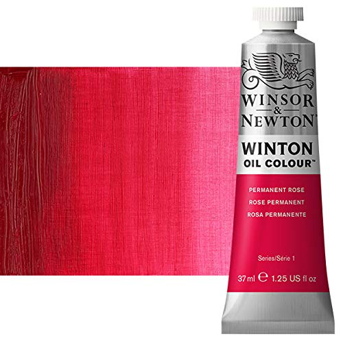 Winsor & Newton Winton Oil Colour Paint, 37ml tube, Permanent rose