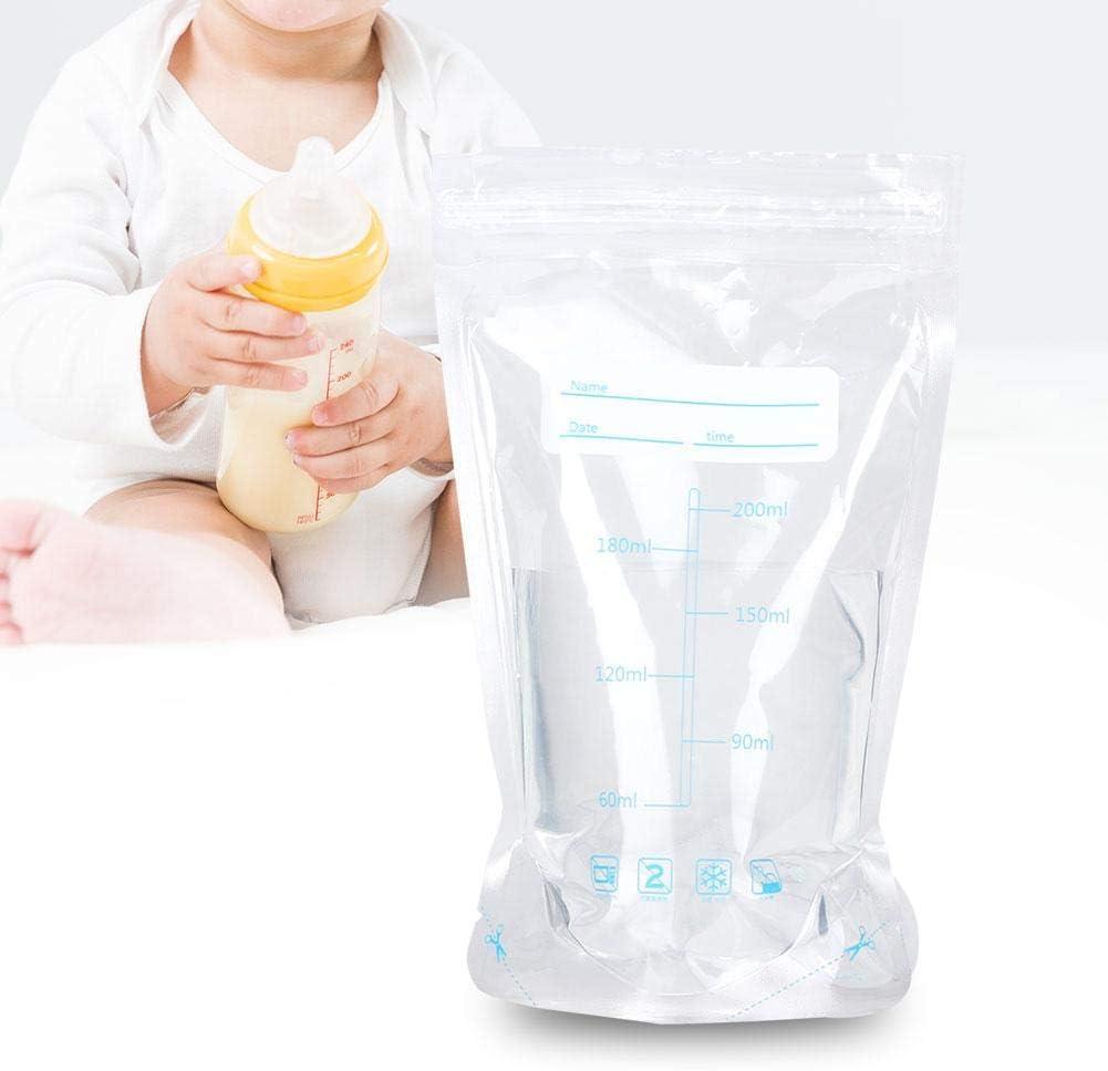 200 ml Almacenamiento de leche fresca congelada Sello doble 30pcs Bolsas de almacenamiento de leche materna