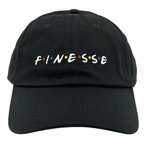 MLSMAMZ Finesse Hat Dad Hat Baseball Cap Embroidered Adjustable (Black)