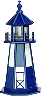 product image for DutchCrafters Decorative Lighthouse - Wood, Cape Henry Style (Patriot Blue/White, 5)
