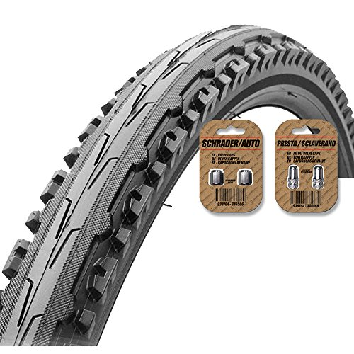 KENDA Kross Plus Mountain Bike Tire (K847) Black - Semi Slick Tread Style - FREE SHIPPING - FREE VALVE CAP UPGRADE WORTH $4.99! (700 X 32C)