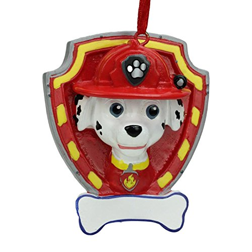 Personalized Paw Patrol Marshall Character Christmas Ornament