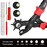Revolving Leather Belt Hole Punch Plier Tool