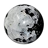 Satyamani Natural Rainbow Moonstone Gemstone Sphere (301gm-400gm)