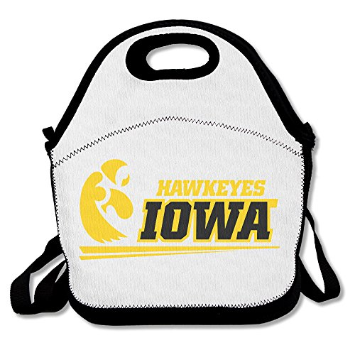 Price comparison product image 100% Polyester Iowa Logo Multifunction Reusable Snack Bag Handbag Lunch Tote