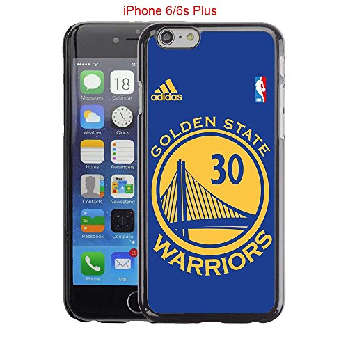 iPhone 6 Plus Case, iPhone 6S Plus Cases, Warriors Basketball Team Logo 09 Drop Protection Never Fade Anti Slip Scratchproof Black Hard Plastic Case