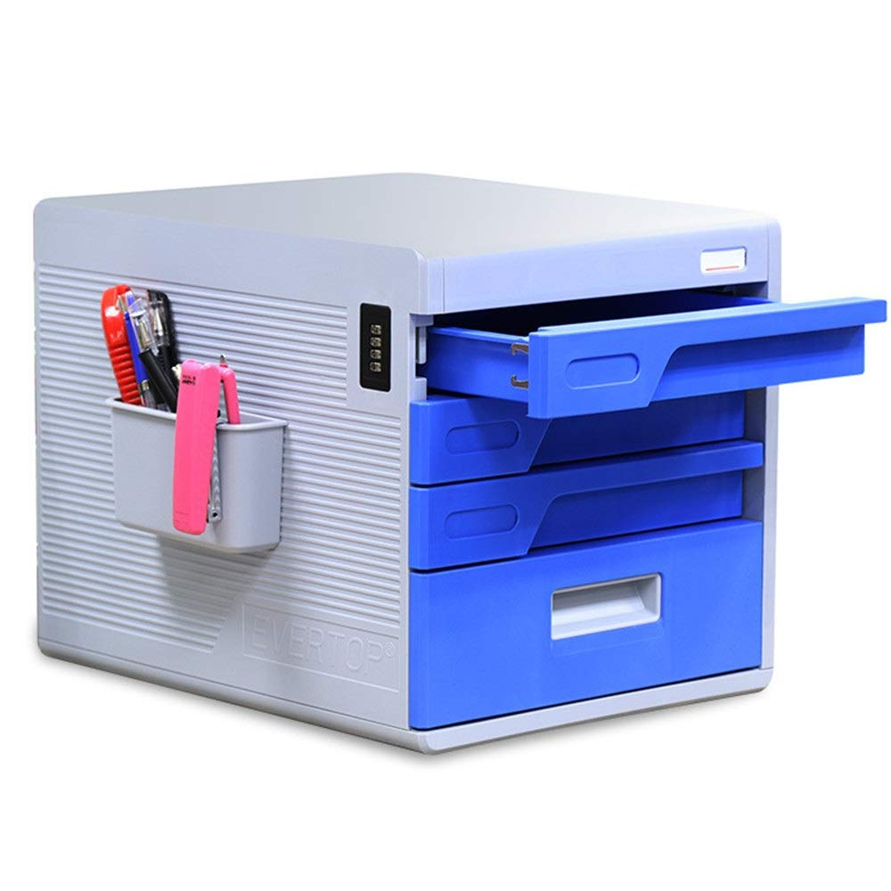 File Cabinet Drawer Cabinet Desk Organizer - Filing & Organizing Paper Documents, Tools, Kids Craft Supplies - Home Office Desktop File Storage Box for Home Office (Color : Blue, Size : 30x38x27cm) by Opbsite
