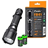 Fenix FD41 900 Lumen CREE LED adjustable focus (zoom-able) Flashlight with two EdisonBright CR123A Lithium Batteries