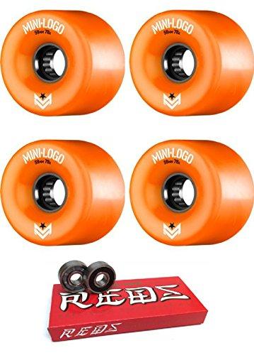 有料ペインティング破壊的59 mm Miniロゴa.w.o.l. a-cutスケートボードWheels with Bones Bearings – 8 mmスケートボードベアリングBones Super Redsスケート定格 – 2アイテムのバンドル