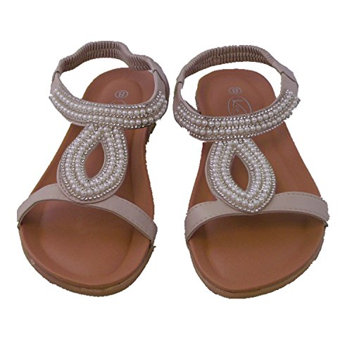 Onitiva Summer Houndstooth Sandals 03-W Nude US8.5