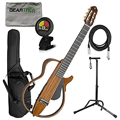 Yamaha SLG200NW Nylon String Silent Guitar w/Bag, Cloth, Cable, Stand, and Tune