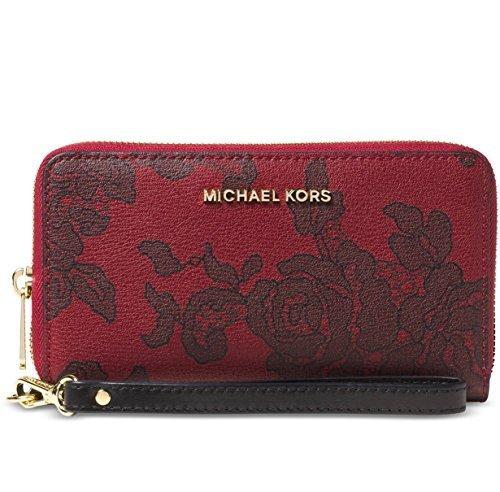 Michael Michael Kors Jet Set Travel Large Coin Multifunction Wallet (Nat/Cherry)