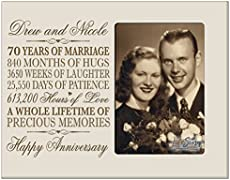 Modern Traditional 70th Wedding Anniversary Gifts For Women Men