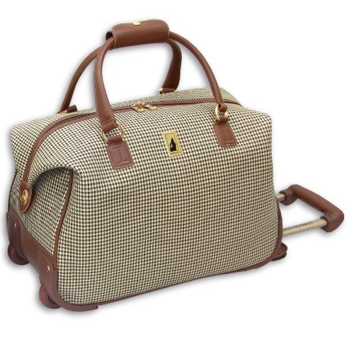 London Fog Luggage Chelsea 20 Inch Wheeled Club Bag, Olive Plaid, One Size