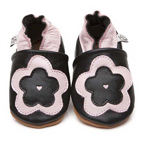 Suaves Zapatos De Cuero Del Bebé Florón 12-18 meses
