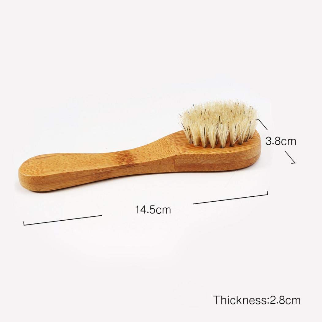Dry Brushing Body Brush, Bamboo Natural Boar Bristles for Lymphatic Drainage, Skin Exfoliation - Cellulite Massager, Long & Contoured Brush, Lava Pumice Stone Gift, How to Guide Glowing Skin (Yellow) by DICPOLIA Beauty (Image #6)
