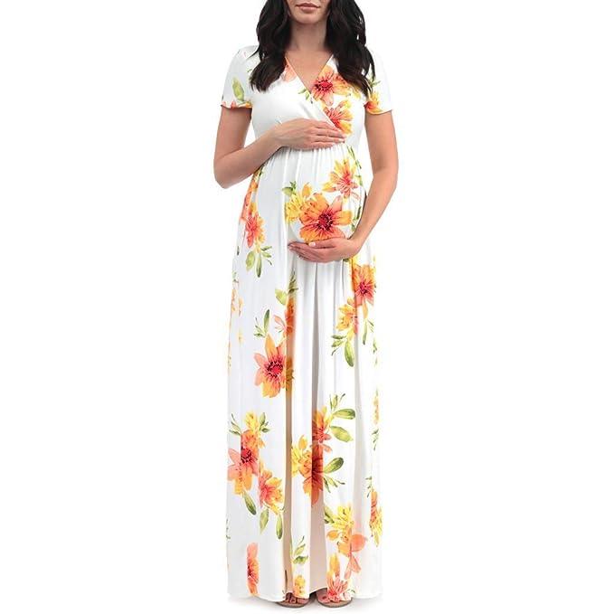 Vectry Vestidos de Premamá para Bodas Vestido Premama Grace Karin Ropa Embarazada Fotografia Vestidos Midi Verano Vestidos Cortos Elegantes Vestido: ...