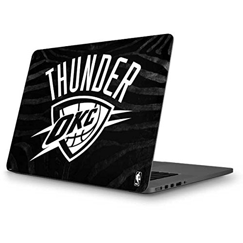 Skinit NBA Oklahoma City Thunder MacBook Pro 13 (2013-15 Retina Display) Skin - Oklahoma City Thunder Black Animal Print Design - Ultra Thin, Lightweight Vinyl Decal Protection by Skinit
