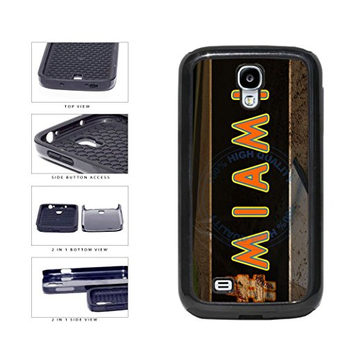 BleuReign(TM) Hashtag Miami #Miami Baseball Team 2-Piece Dual Layer Phone Case Back Cover For Samsung Galaxy S4