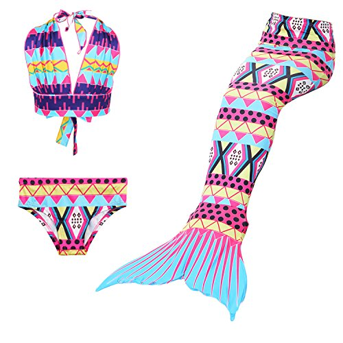 Das beste Girl's Swimsuit Mermaid Tail for