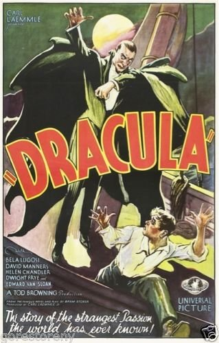 "Dracula  Movie Poster 24""x36"""