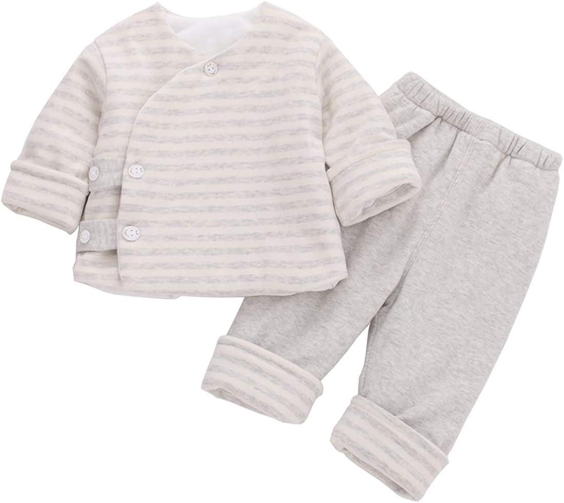PAUBOLI Baby Kimono Romper Newborn Cotton Bodysuit Comfy Japanese Pajamas 0-36 Months