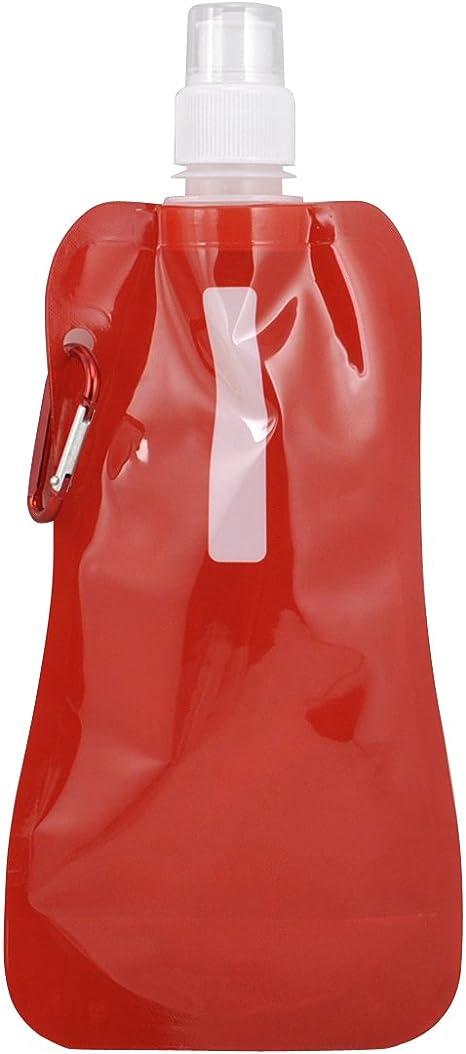 TRIXES Botella de Agua roja, Reutilizable y Plegable para Hacer ...
