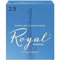 Cañas para saxo soprano Rico Royal, resistencia de 2.5, paquete de 10