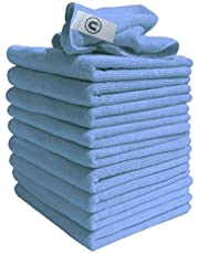 Microvezeldoeken vergelijkbaar met Exel Magic reinigingsdoeken. Chemisch vrij groot super zachte premium vezel, wasbare doek Duster voor auto, motorfiets, elektrische huishoudelijke apparaten, industrieel gebruik - textiel, blauw, 40x40CM, 40 x 40cm