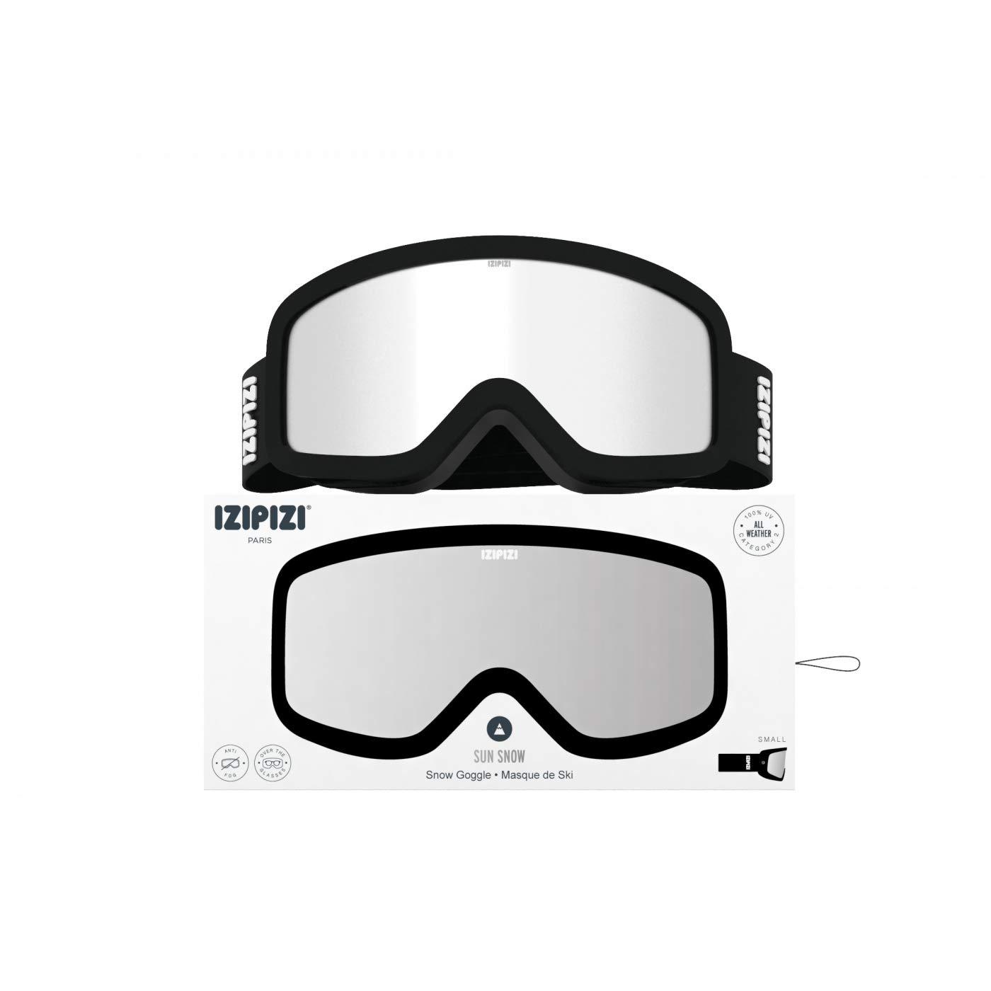 IZI/_SUNSNOW/_BLK Izipizi S Sun Snow Ski Mask Snowboard Negro Lente Negro