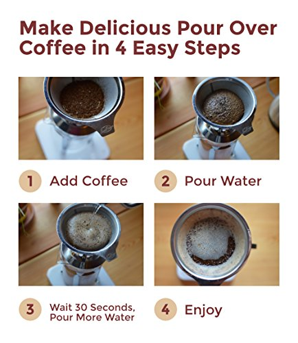 Pour Over Coffee Maker With Built In Filter : JavaPresse Pour Over Coffee Maker with Stand Clever Hand Drip Brewer with Reusable Filter ...