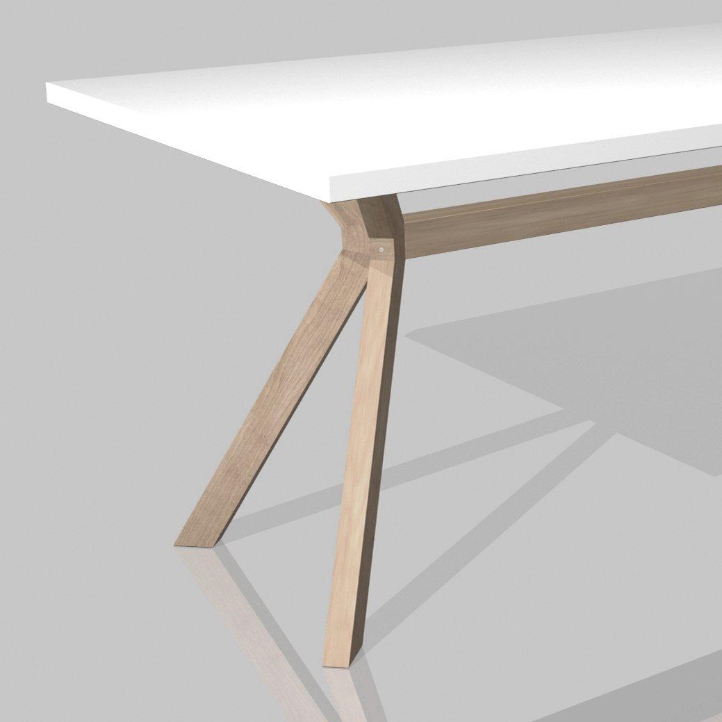 Esstisch massiv weiss  Design Esstisch Esszimmertisch KOZANI , weiß, Tischbeine ...