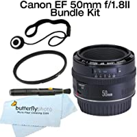 Canon EF 50mm f/1.8 II Lens With 52mm UV + Care Package