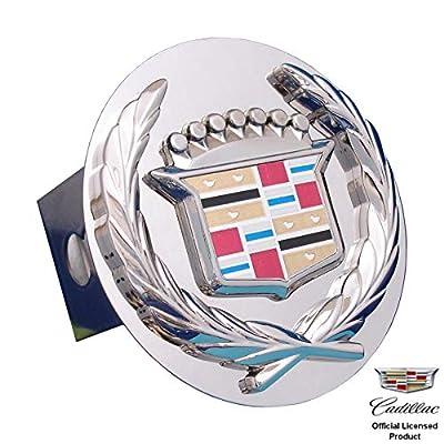 Au-tomotive Gold Chrome Logo Tow Hitch Cover Plug for Cadillac - Old Logo: Automotive