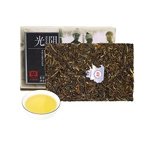TAETEA Light and Shade Raw PU'ER Brick TEA 10th Anniversary Edition Organic Black Tea