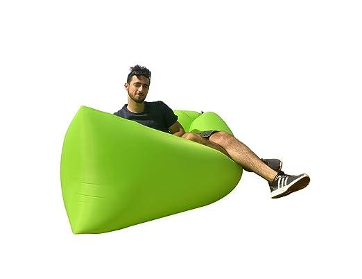 Lazy Sofá Tumbona inflable Sofa Hinchable playa colchones de aire ...