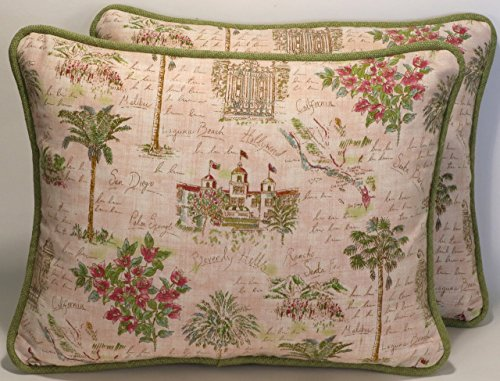 Malibu Fabric Sofa (Hollywood,Malibu,San Diego,Beverly Hills Decorative Throw Pillows! 2 14