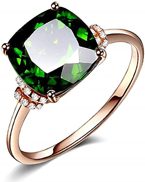 TVS-JEWELS Luxury Emerald Cut Black Cubic Zirconia 14k Gold Plated Mens Band Anniversary Ring Size 7 to 14