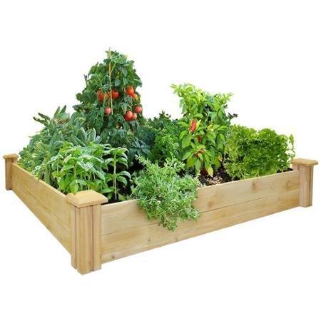 Greenes Fence 4' x 4' x 7'' Cedar Raised Garden Bed by Generic