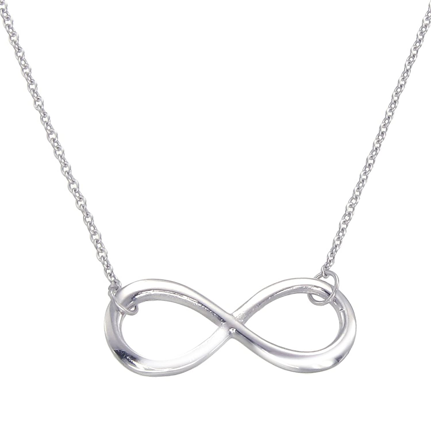 Sterling Silver Infinity Pendant Mancini Amazon Jewellery
