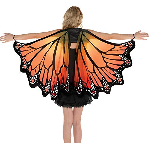 AMSCAN Monarch Butterfly Wings Halloween Costume Accessories for Adults, One Size -