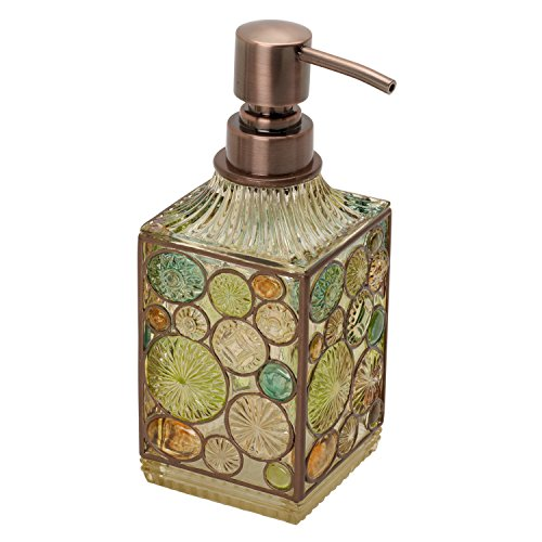 Zenna Home, India Ink Boddington Lotion or Soap Dispenser, Bronze with Translucent Colors